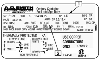 century 2 speed motor wiring diagram Download-Pool Pump Motor Label 18-r