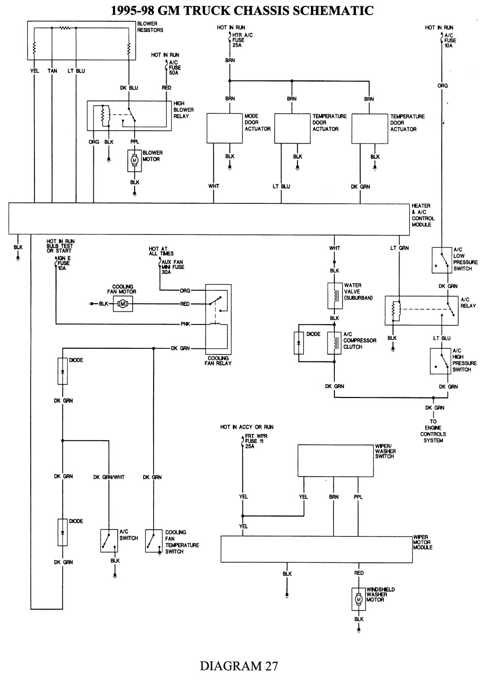 chevy tahoe trailer wiring diagram Collection-Trailer Wiring Diagrams Inspirational Wiring Schematic Heater Blower Motor for 98 Chevy Tahoe Google 9-h
