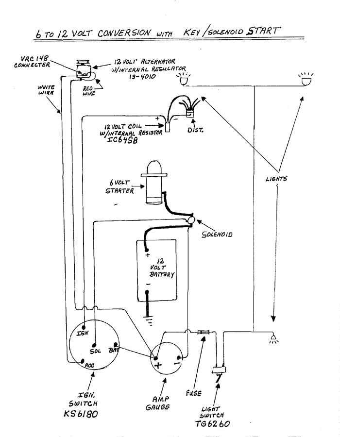 Basic Ignition Switch Wiring Diagram On 6 Volt Car Wiring Diagram