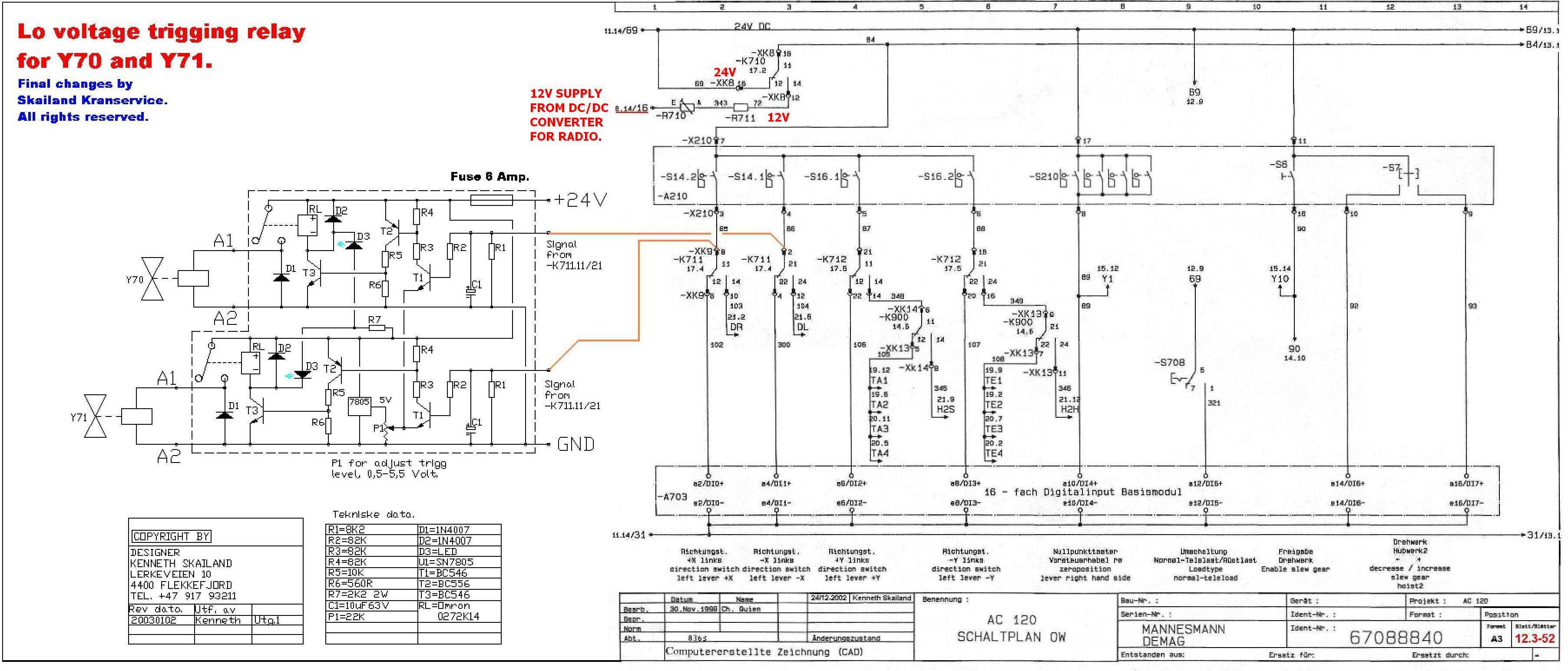 cm hoist wiring diagram Collection-Demag Hoist Wiring Diagram For B12 3 To Overhead Crane 13-n