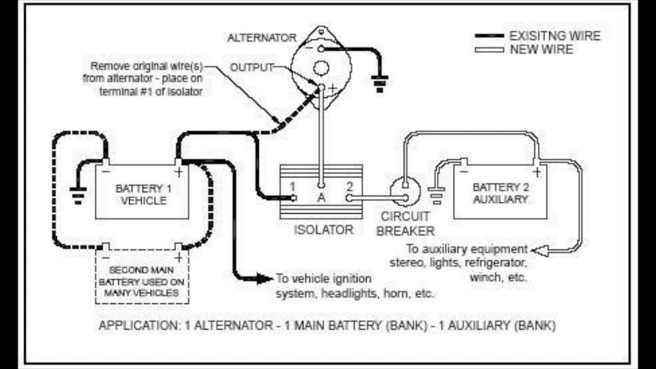 Battery Isolator Wiring Diagram Schematic