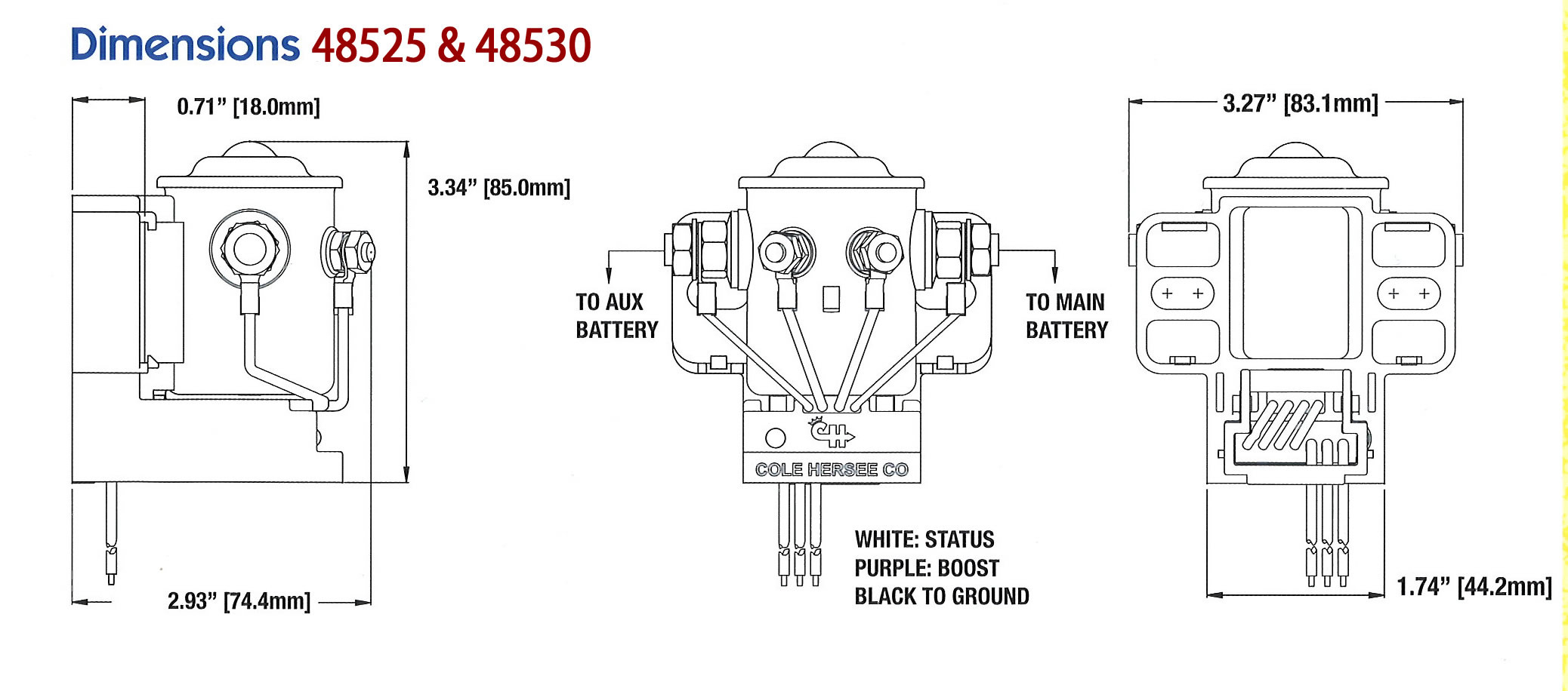 cole hersee battery isolator wiring diagram Download-Cole Hersee 200A Smart  Battery Isolator AC DC