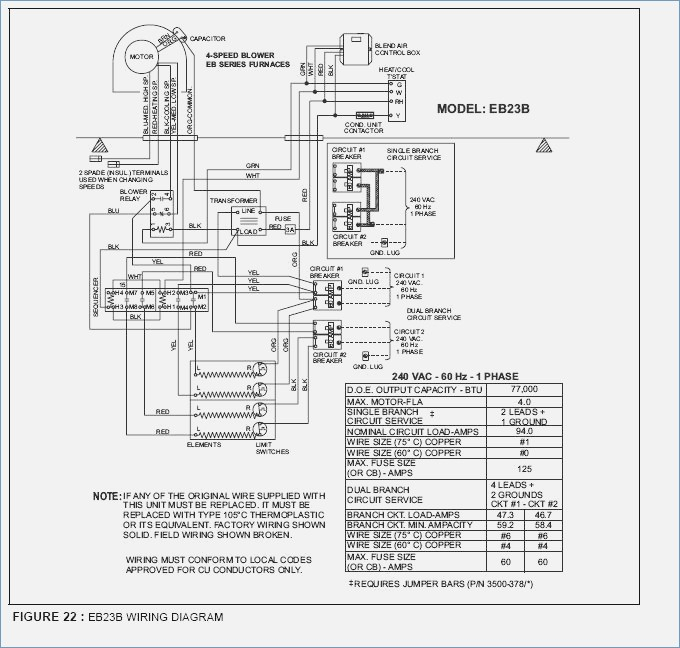 Central Electric Furnace Wiring Diagram