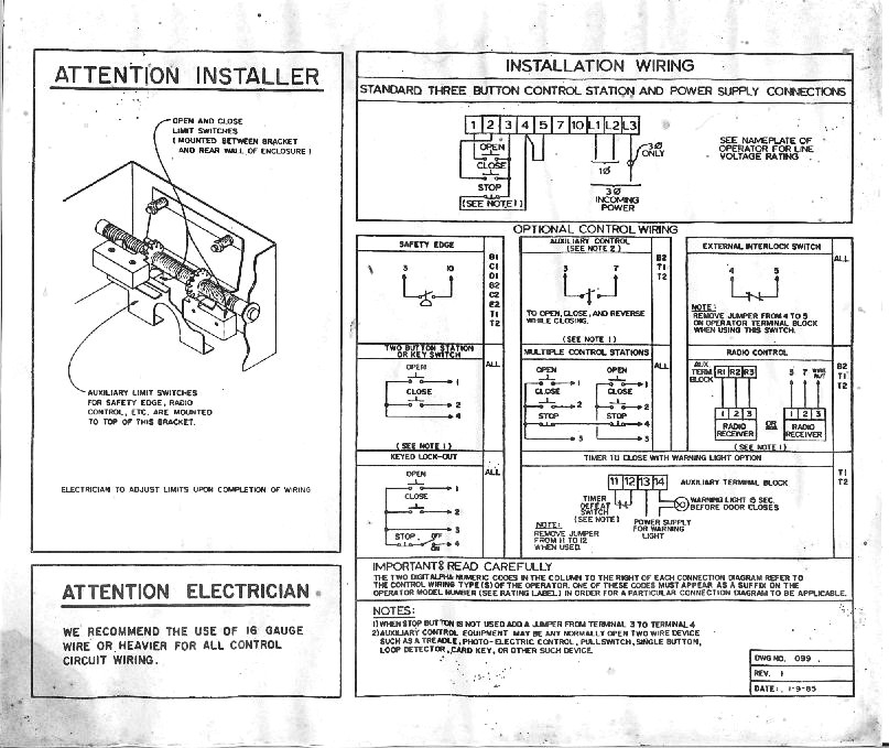 commercial overhead door wiring diagram Download-Wiring Help Needed Hearth Forums Home Striking mercial Garage Door Opener 6-s