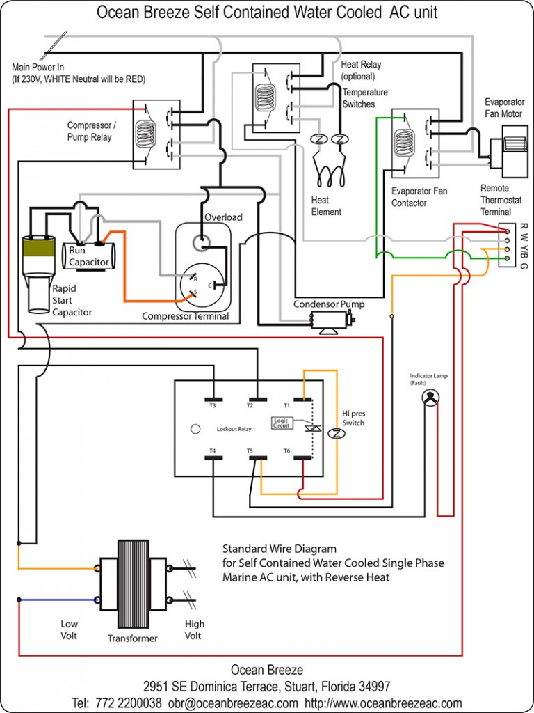 Contactor Wiring Diagram Ac Unit Download | Wiring Diagram ... on