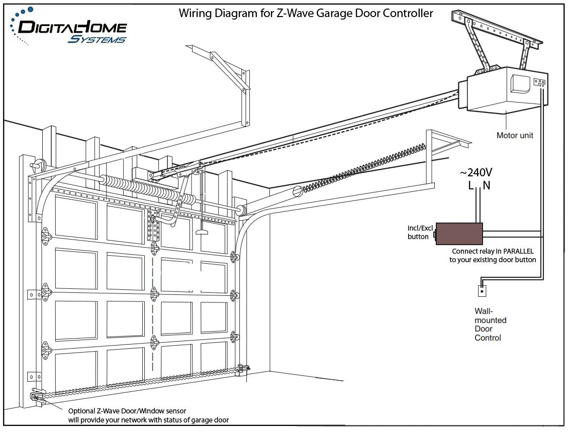 craftsman garage door opener hook up