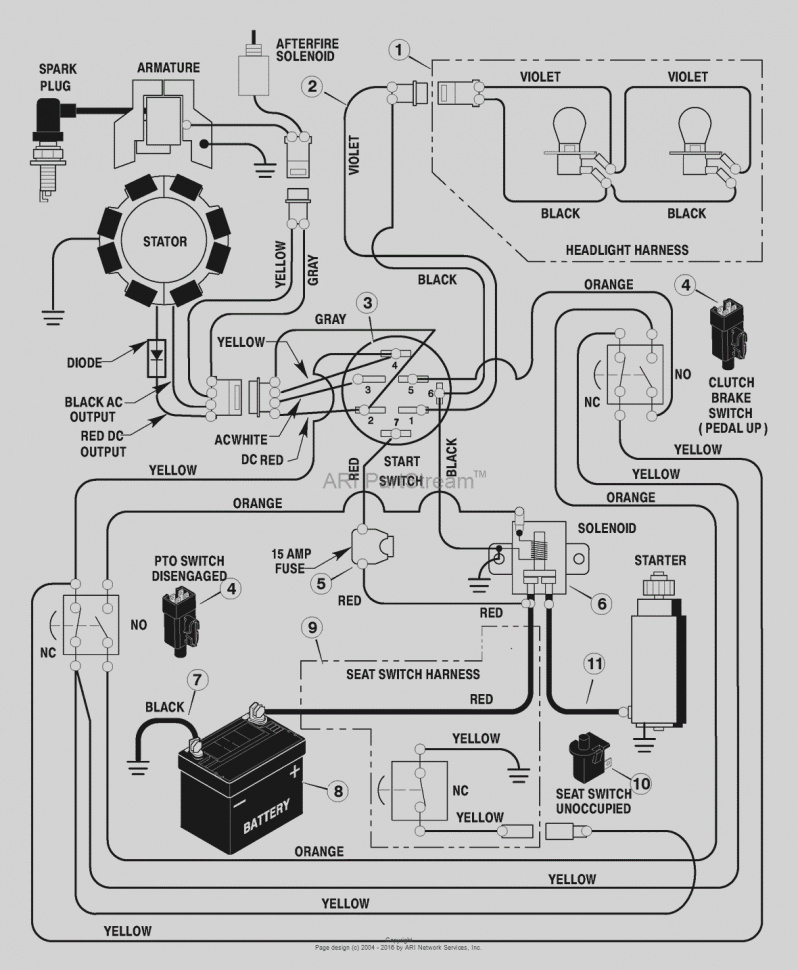 Wiring Diagram For Craftsman 917 276922 Riding Lawn Mower ... on