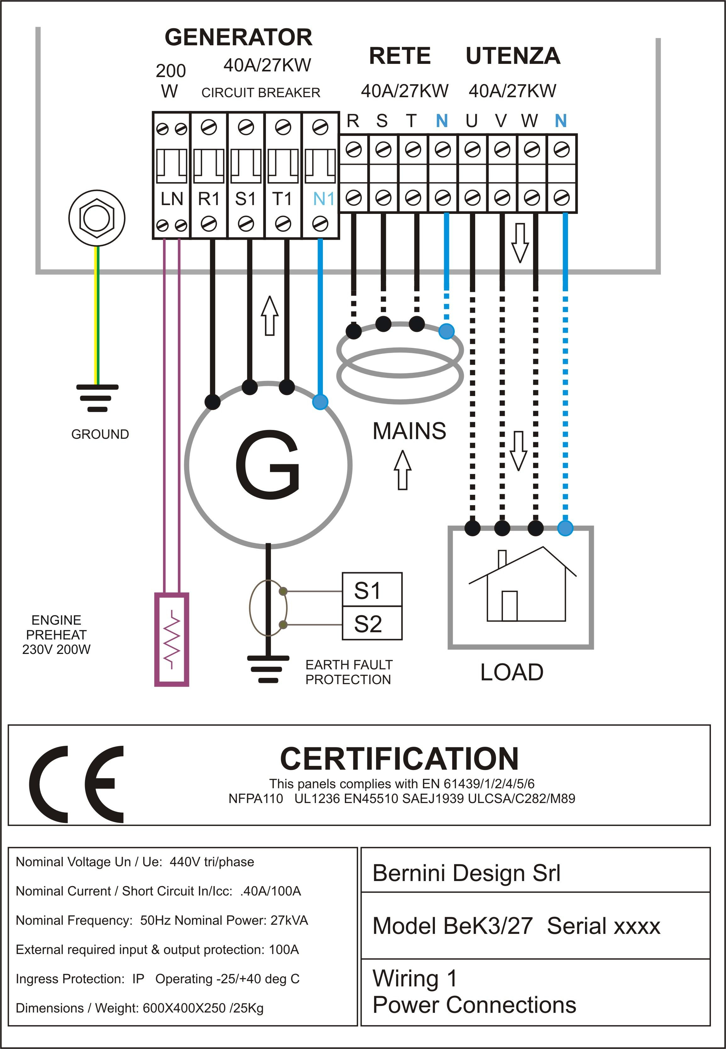 Cummins Transfer Switch Wiring Diagram Download Sample Grounded Plug Free Diagrams Pictures Collection Sel Generator Control Panel Ac Connections 5