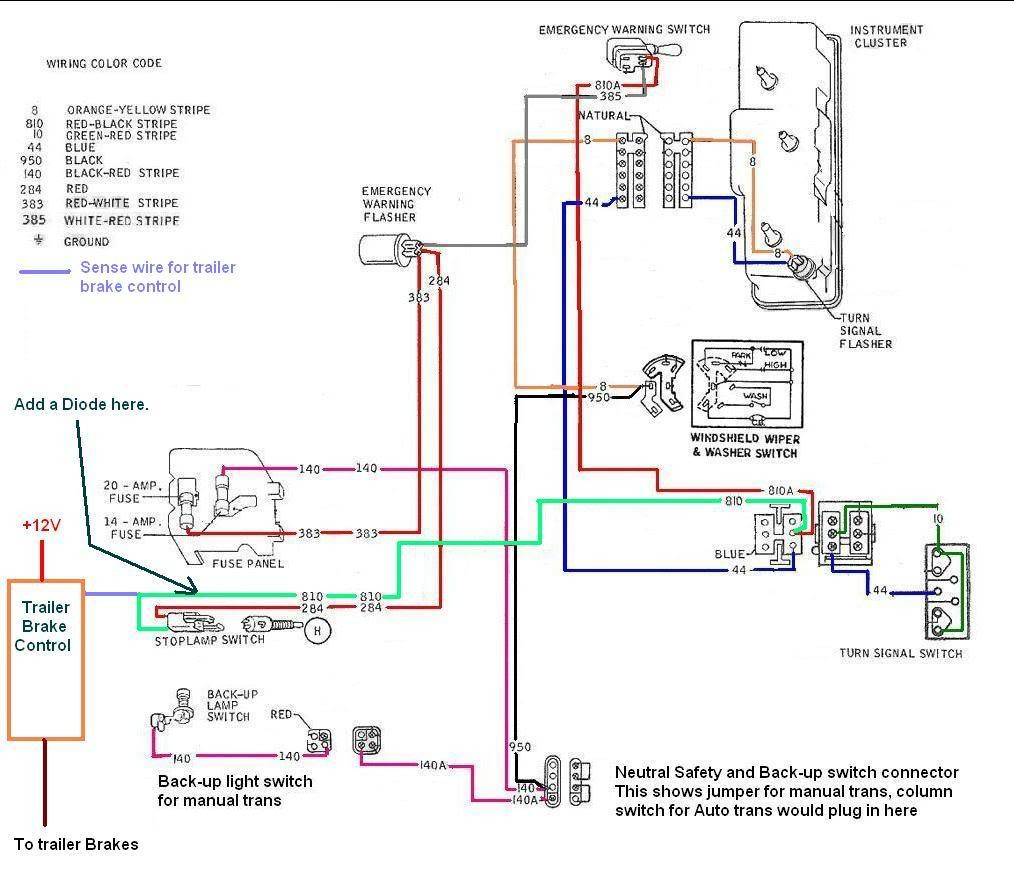 trailer emergency brake wiring diagram