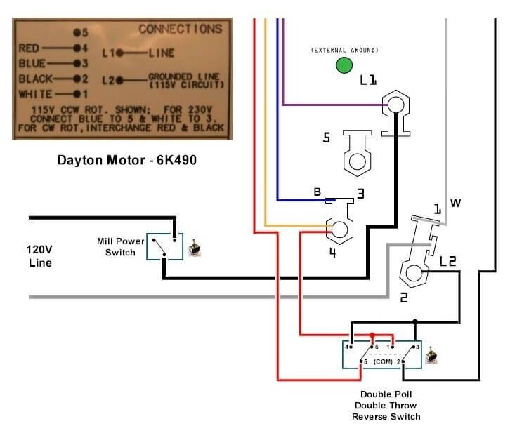Marathon Motor Schematic: Dayton Motor Wiring Diagram