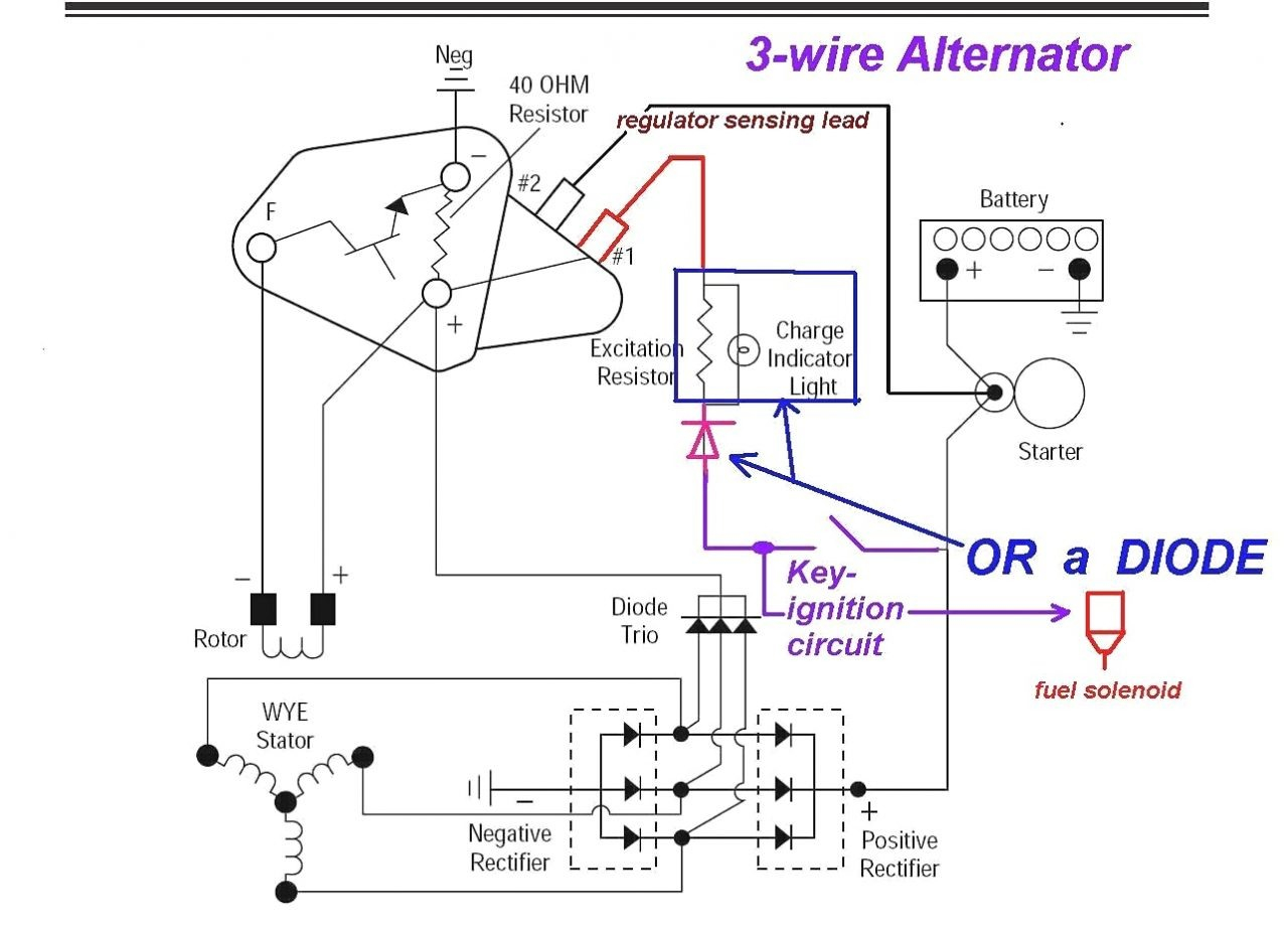 Delco 3 Wire Alternator Wiring Diagram Collection