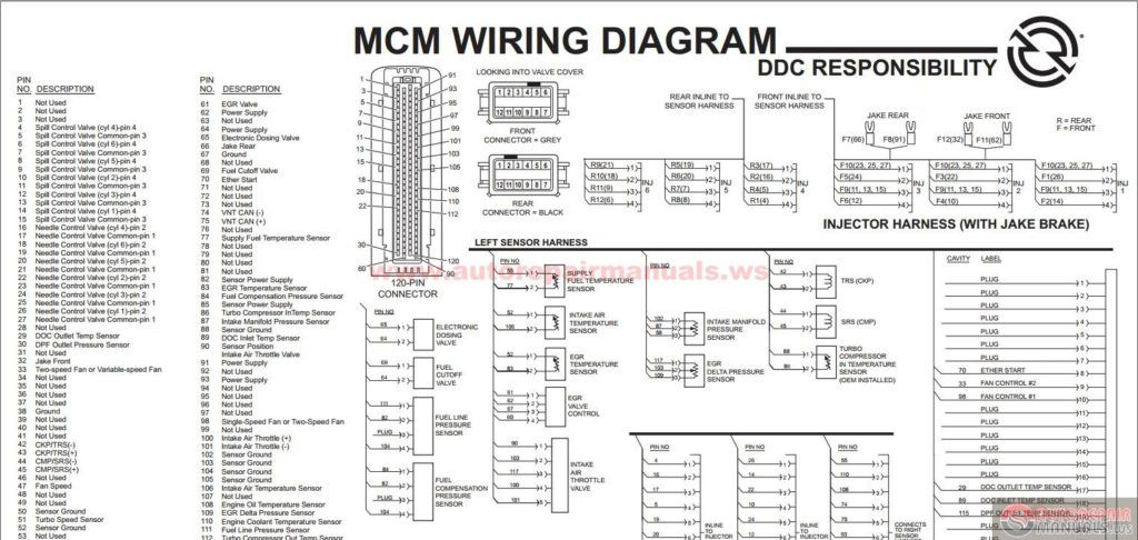 detroit series 60 ecm wiring diagram Download-Detroit Diesel DDEC VI SERIES 60 MCM EGR Engine Harness Schematic To Series Ecm Wiring Diagram 18-k