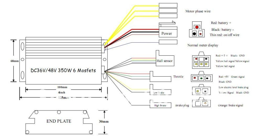 electric awning wiring diagram Collection-Electric Bike Controller Wiring Diagram in addition Electric Motor Wire Connectors additionally Electric Bicycle Controller Razor 8-i