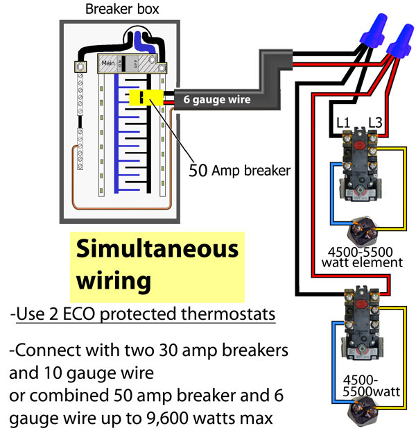 Electric Hot Water Tank Wiring Diagram - Installation Wiring Diagram for Titan Tankless Water Heaters Inspirational How to Wire Water Heater thermostats 7n