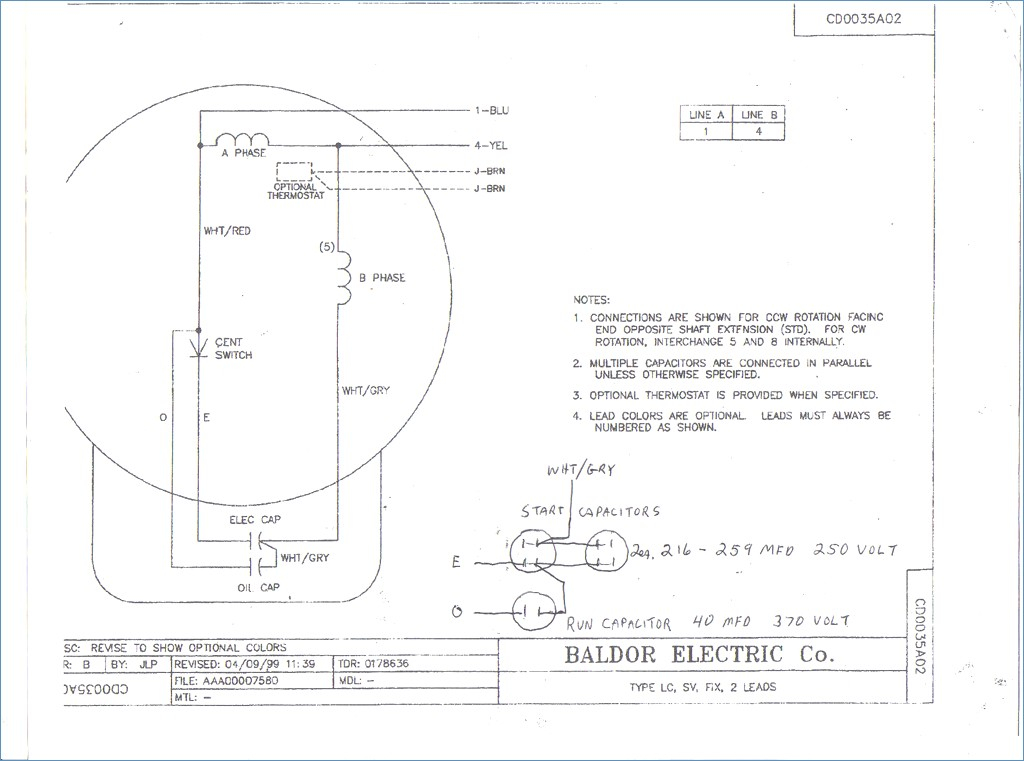 electric motor capacitor wiring diagram Download-Baldor Motor Wiring Diagrams 3 Phase – Wire Diagram 16-c