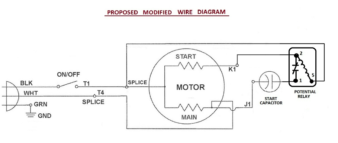 Electric Motor Capacitors Wiring Diagrams