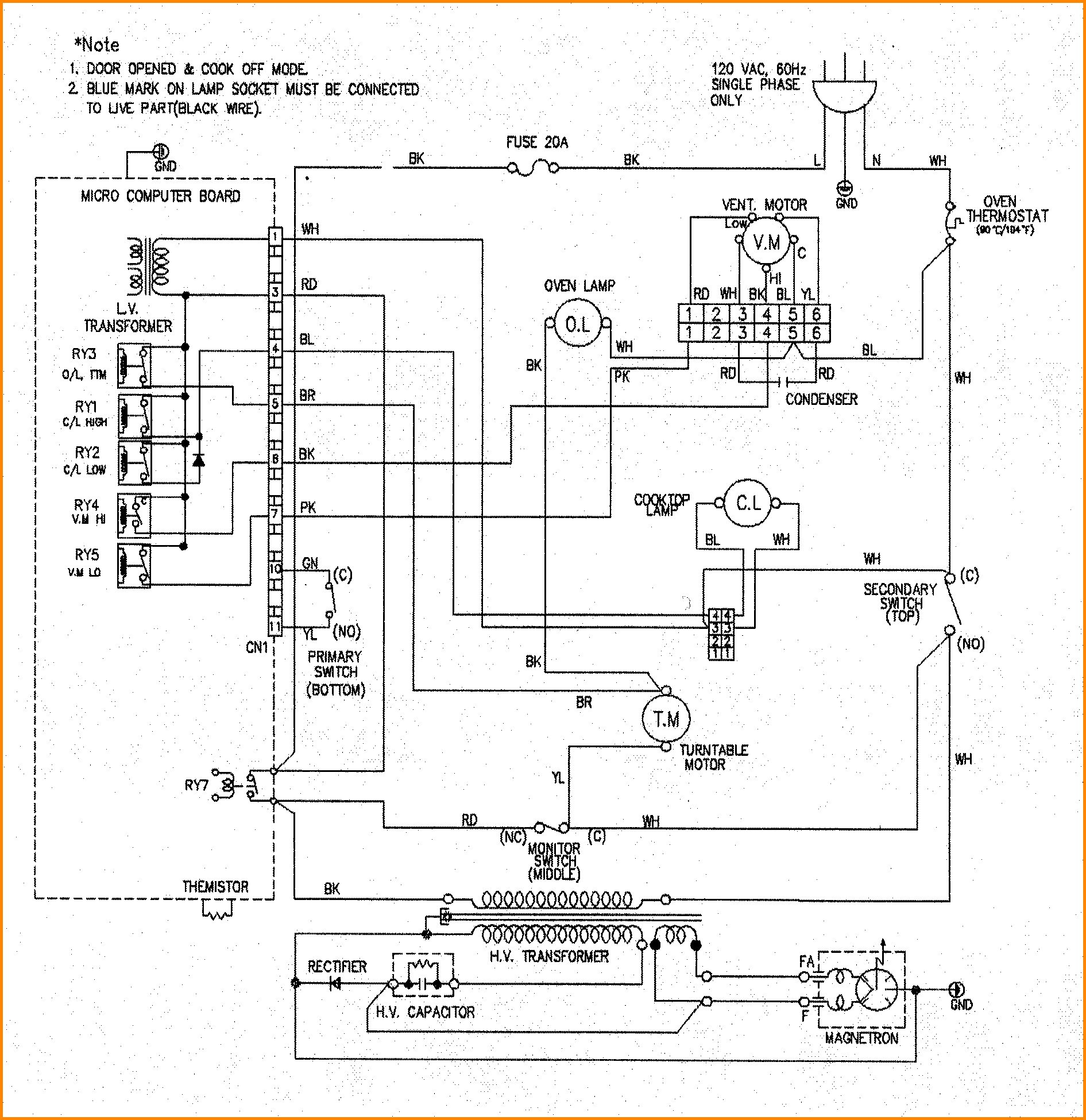 Wiring Diagram For Ge Microwave - Wiring Diagram K10 on