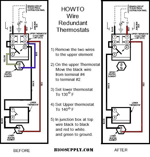 electric water heater thermostat wiring diagram Download-Electric Water Heater Thermostat Wiring Diagram regarding How To 16-b