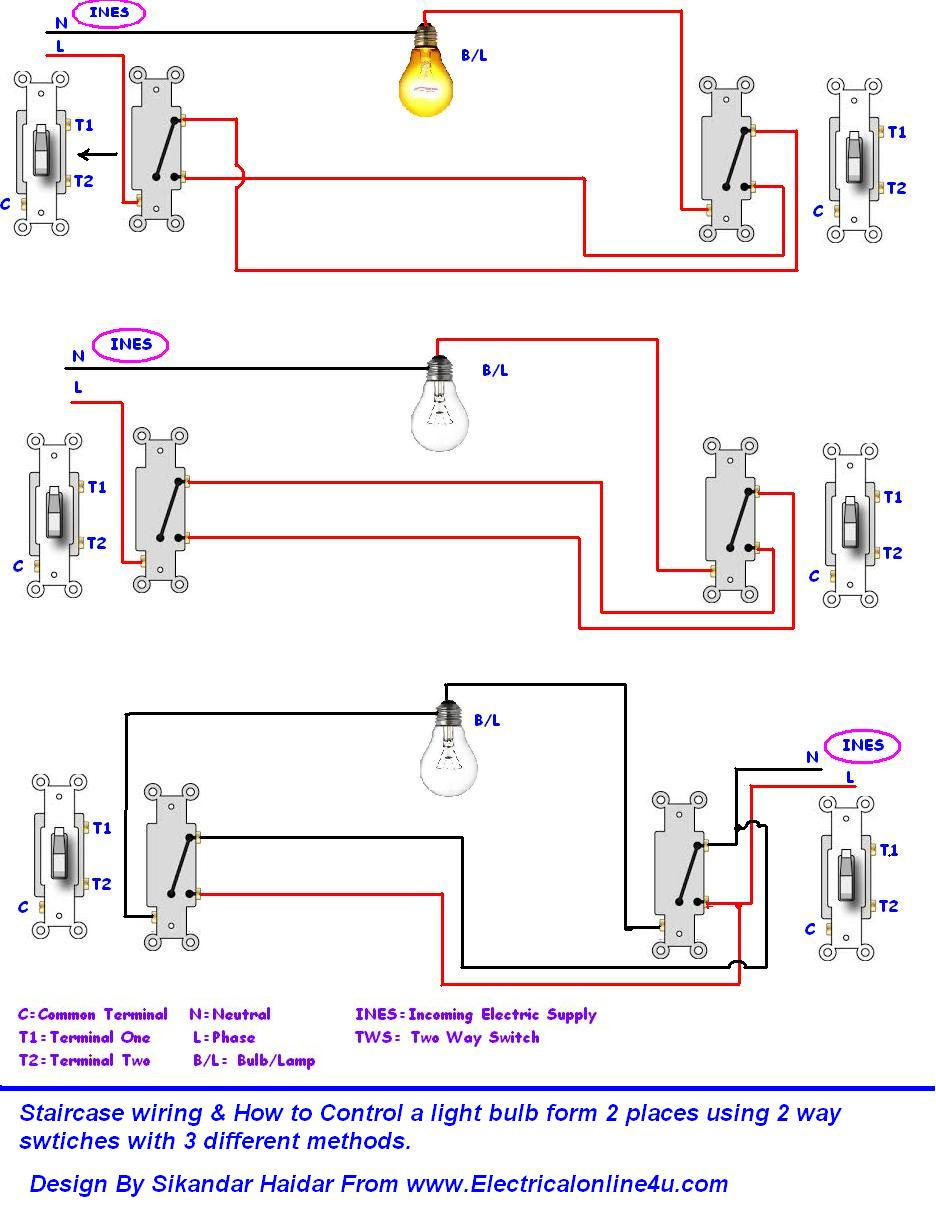 electrical light switch wiring diagram Download-Wiring Diagrams 2 Way Light Switch Lighting Diagram Inside Two Prepossessing 10-k