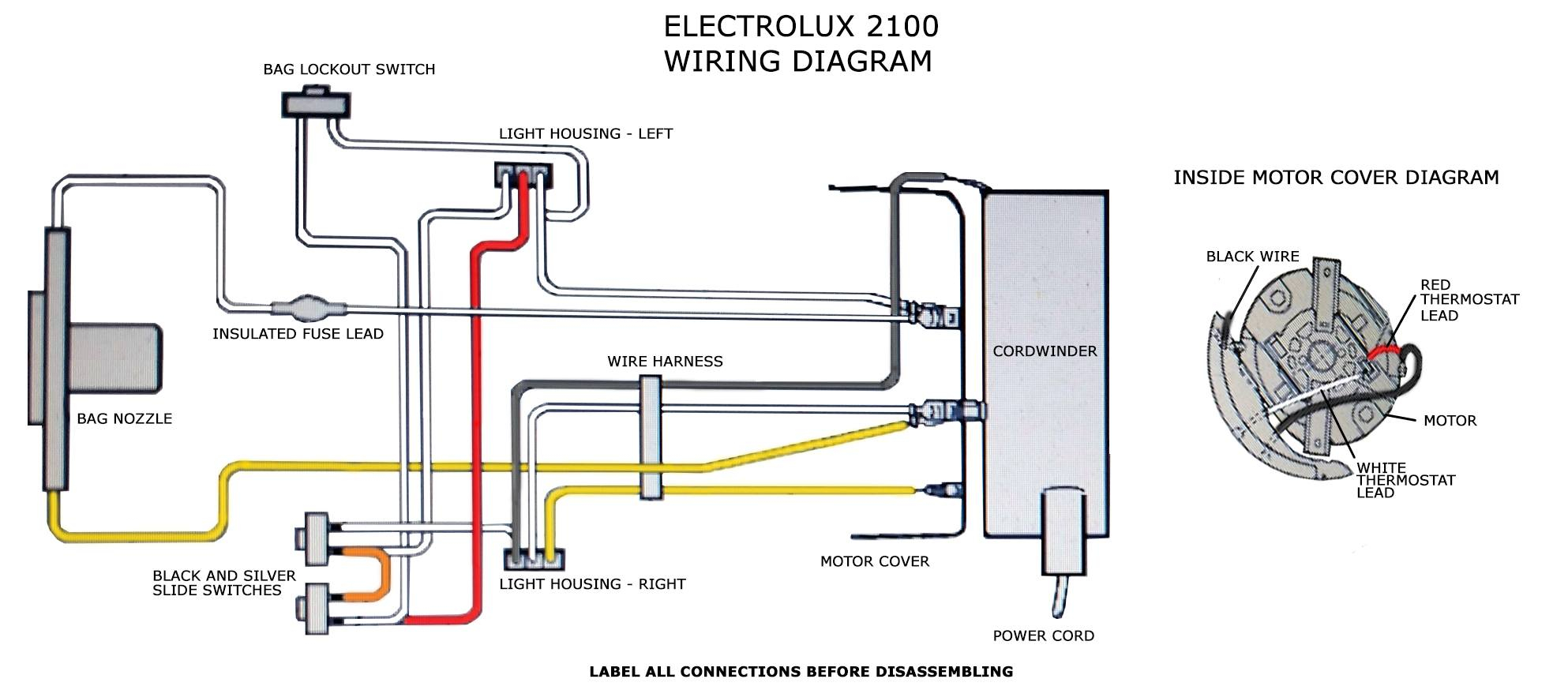 electrolux vacuum wiring diagram Collection-2100 20wiring 20diagram In Electrolux Wiring 14-s