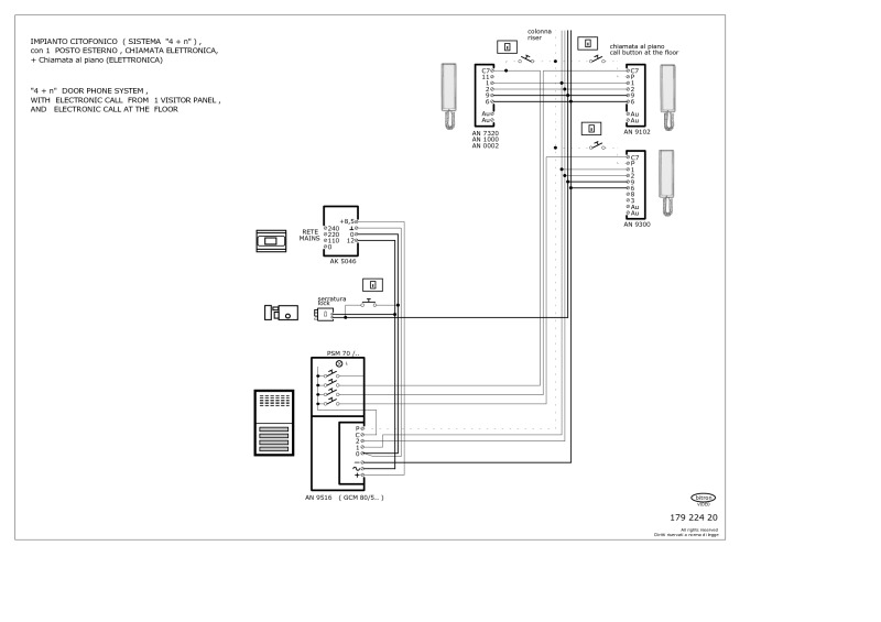 elvox intercom wiring diagram Download-Bitron 4 1 audio 1 entrance electronic floor call 3-n