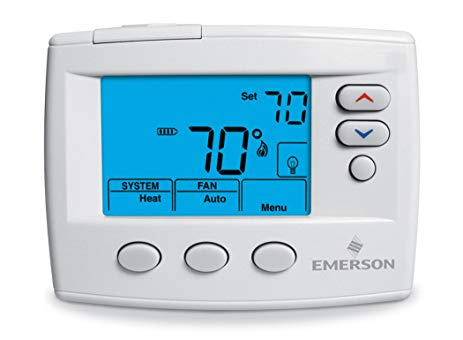 emerson digital thermostat wiring diagram Download-Emerson 1F86 0471 Single Stage Non programmable Thermostat 24 Volt or Millivolt 7-m