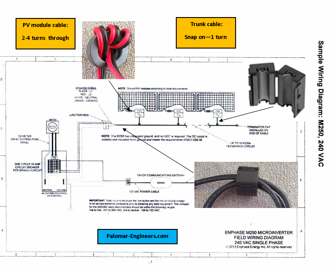 Enphase Micro Inverter Wiring Diagram Sample Solar Panel