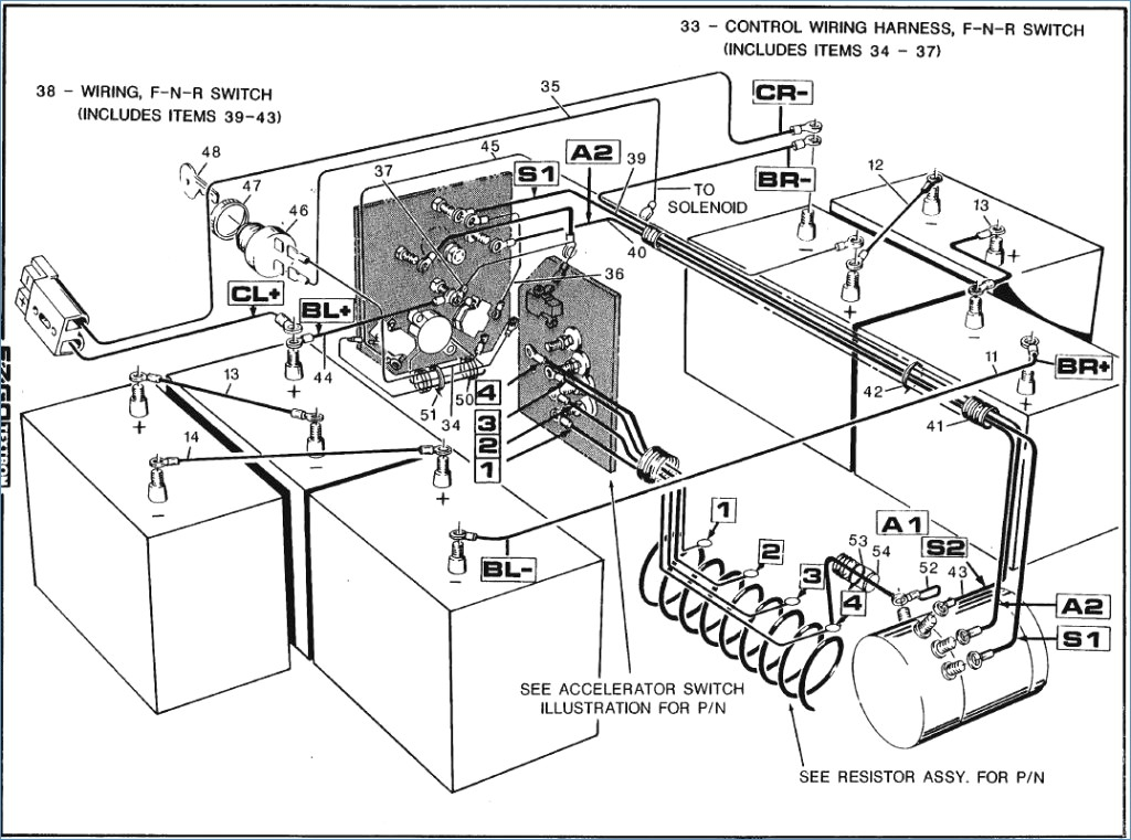 wiring diagram for a 36 volt ez go golf cart owner manual \u0026 wiring 1984 EZ Go Gas Wiring Diagram