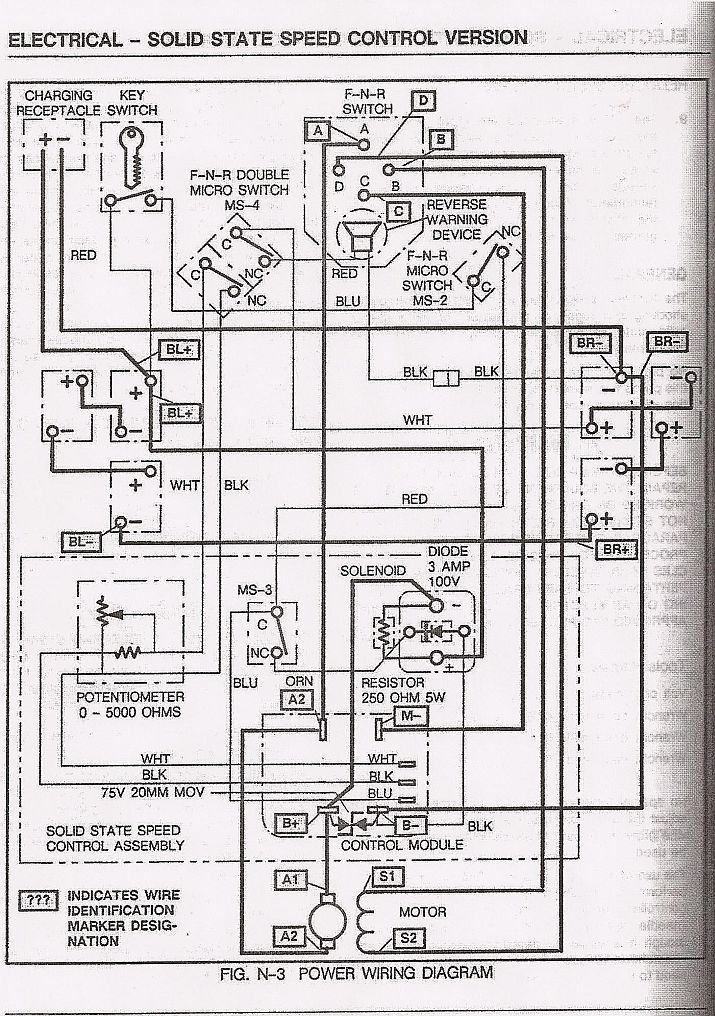 ez go golf cart wiring diagram gas engine Download-Basic Ezgo electric golf cart wiring and manuals 1-n