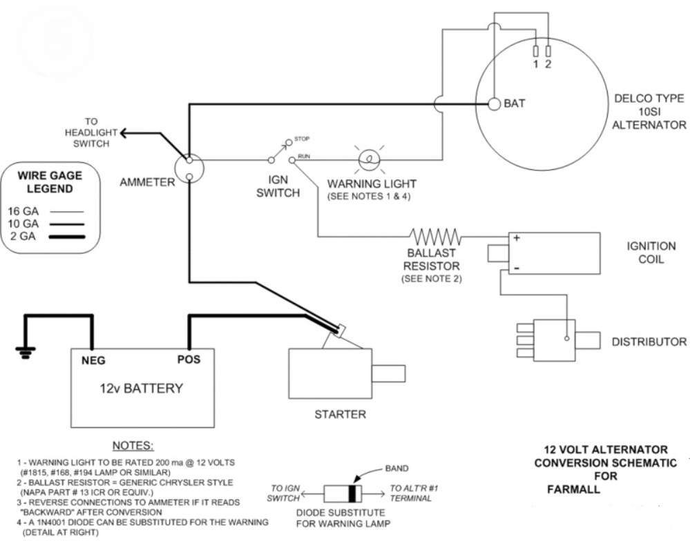 Delco 12v Wiring Diagram