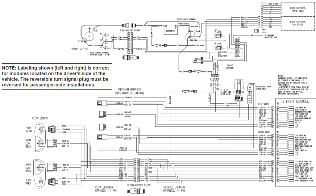 fisher ez v wiring diagram Collection-0306 chevy gmc hb3hb4 12 pin control wiring harness ez v plow wire rh pawmetto co 17-a