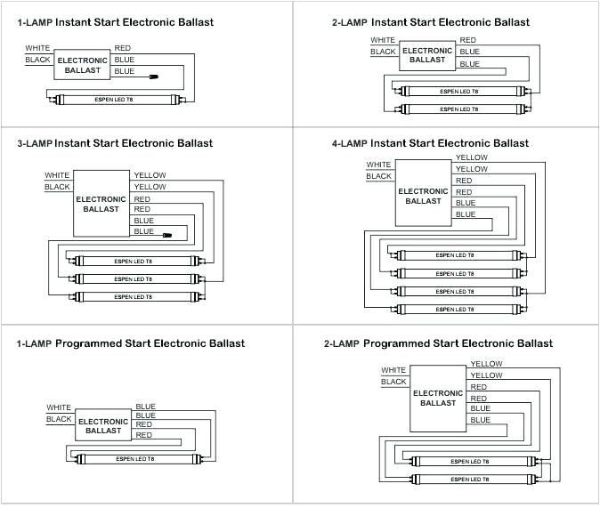 fluorescent ballast wiring diagram Collection-2 14-p