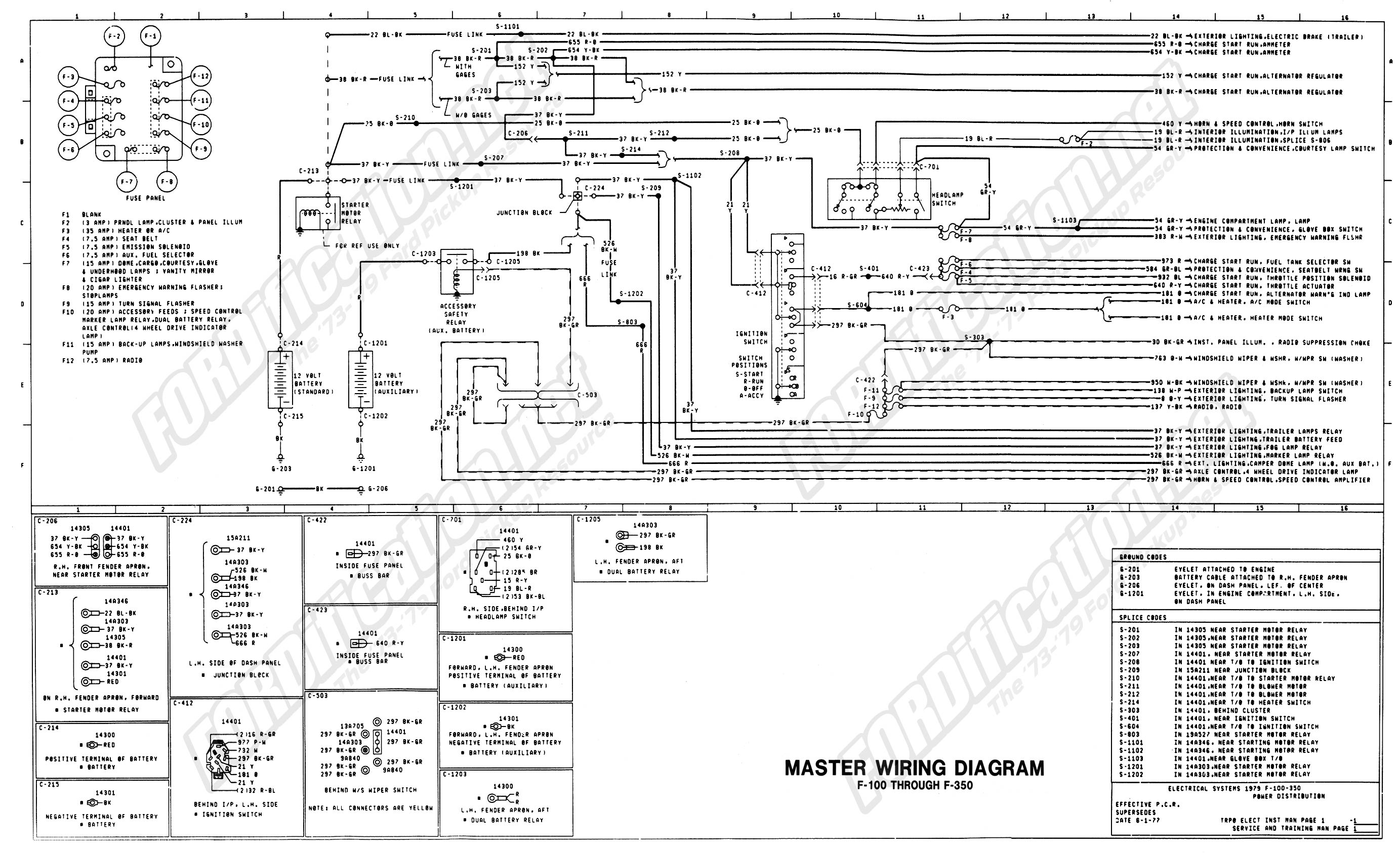 ford stereo wiring diagram Download-wiring 79master 1of9 1-p