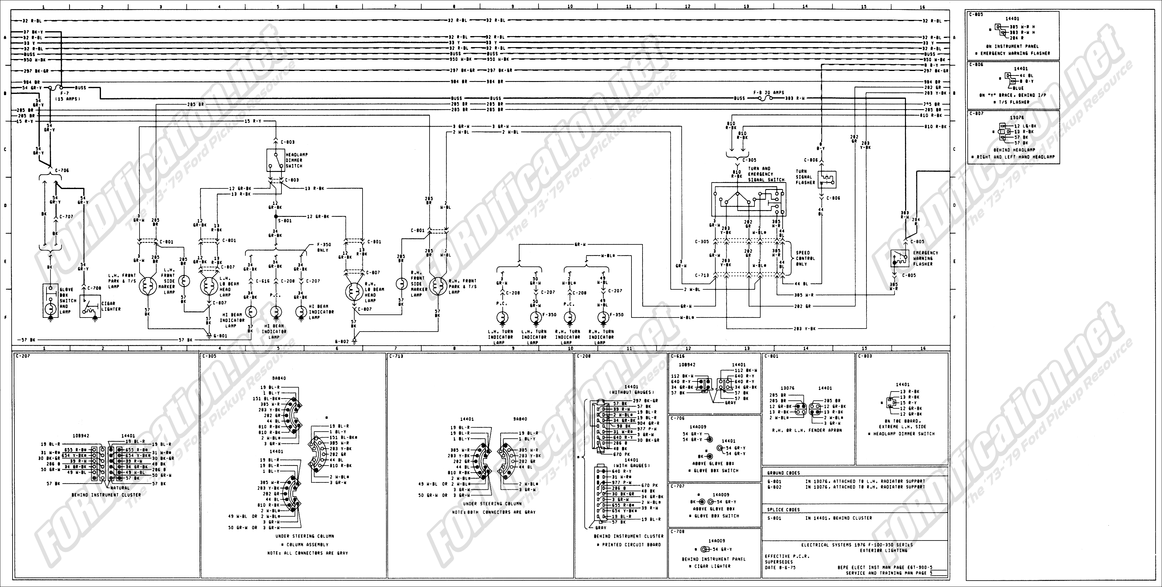 ford trailer wiring diagram round 76 online schematic diagram u2022 rh tentenny com Ford 7 Pin Trailer Wiring Diagram F350 Trailer Wiring Diagram