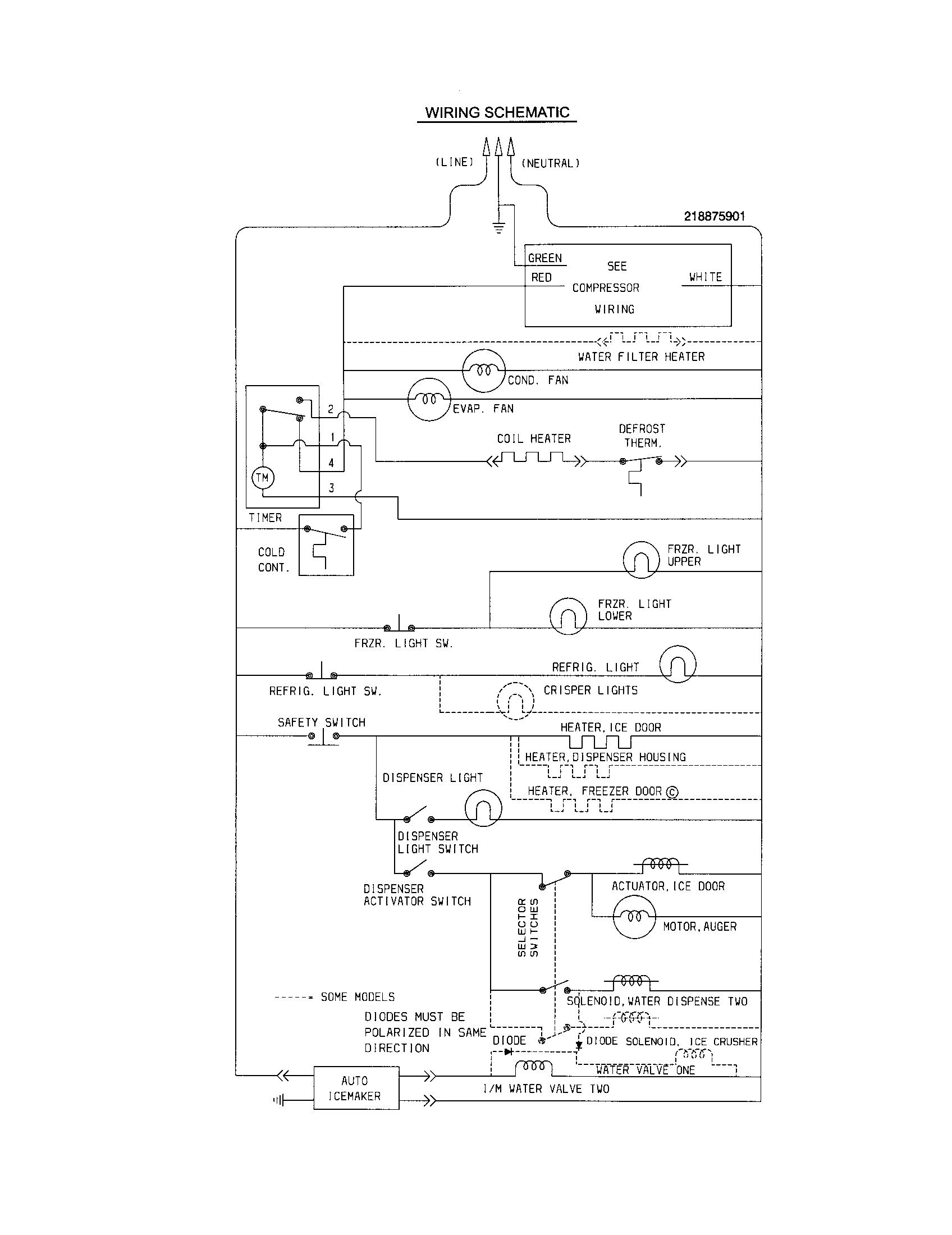 frigidaire refrigerator wiring diagram collection wiring diagram rh faceitsalon com Frigidaire Wiring Schematics Frigidaire Parts Diagrams