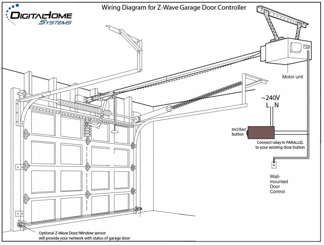 garage door opener sensor wiring diagram Download-Chamberlain Garage Door Opener Sensor Wiring Diagram Wageuzi Raynor 10 9-n