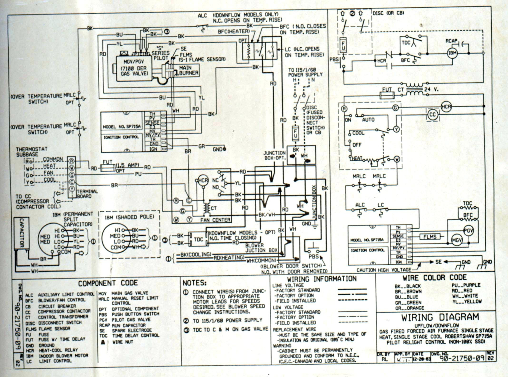 Gas Furnace Schematic Wiring Diagram - In-Depth Wiring Diagrams •