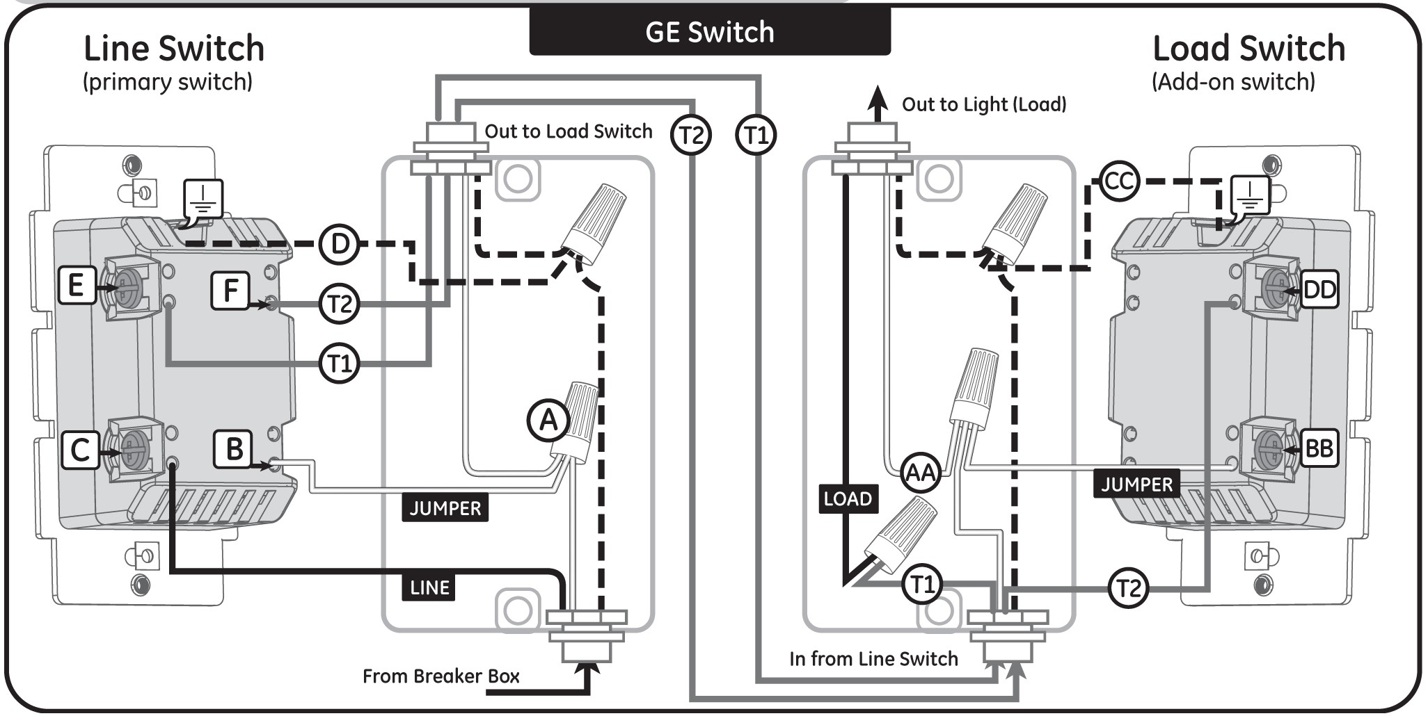 ge z wave 4 way switch wiring diagram gallery