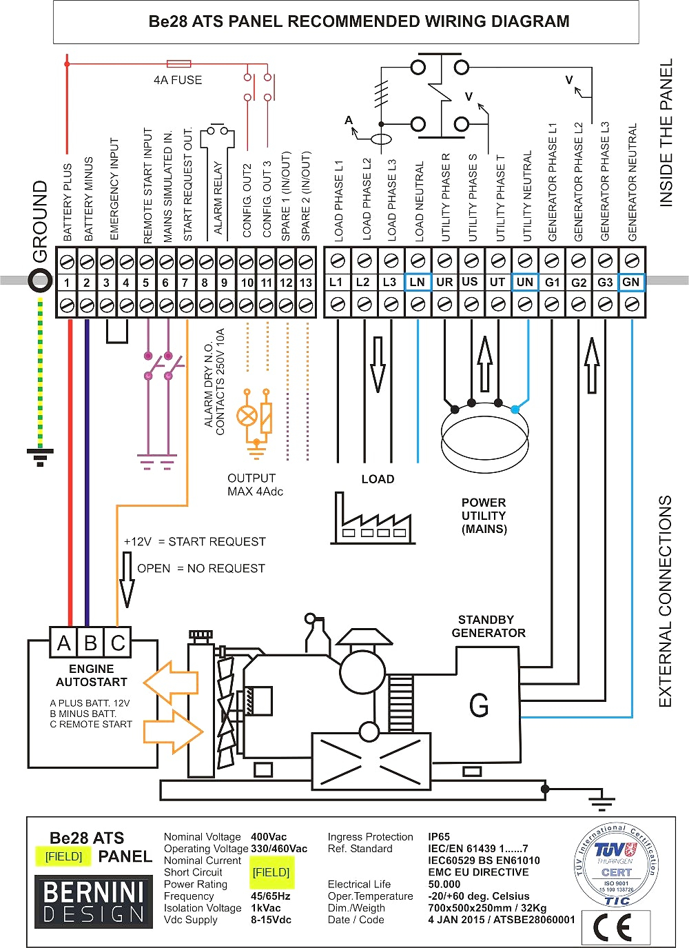 Generac 200 Amp Automatic Transfer Switch Wiring Diagram Gallery Main Breaker Panel A Collection Generator 11 Download