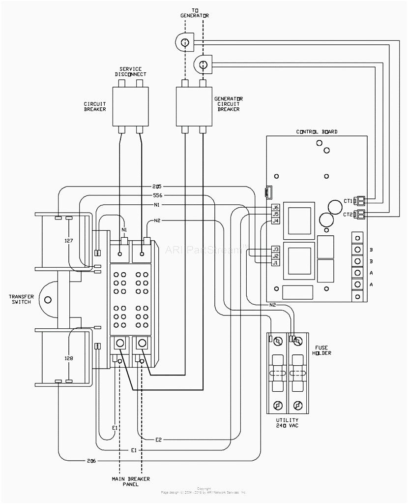 generac generator transfer switch wiring diagram Download-Automatic Transfer Switch Controller Between Mains And Generator Striking Generac Wiring 17-k