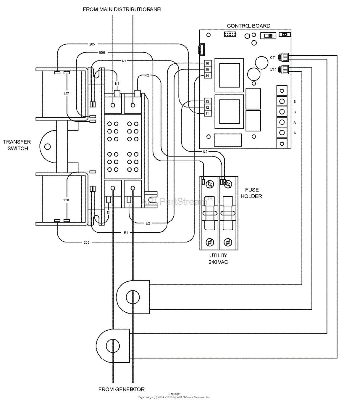 generac generator transfer switch wiring diagram sample wiring