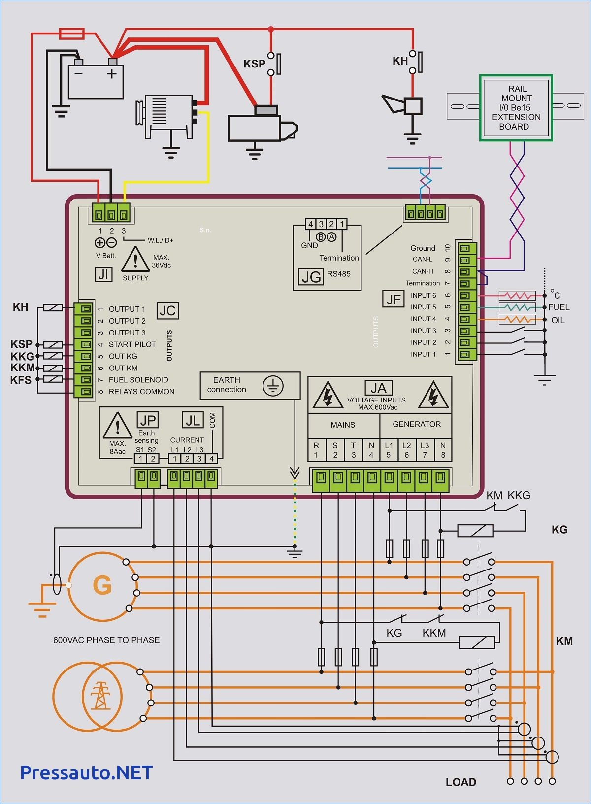 Generator Automatic Transfer Switch Wiring Diagram Sample For Collection Di 4 C Download