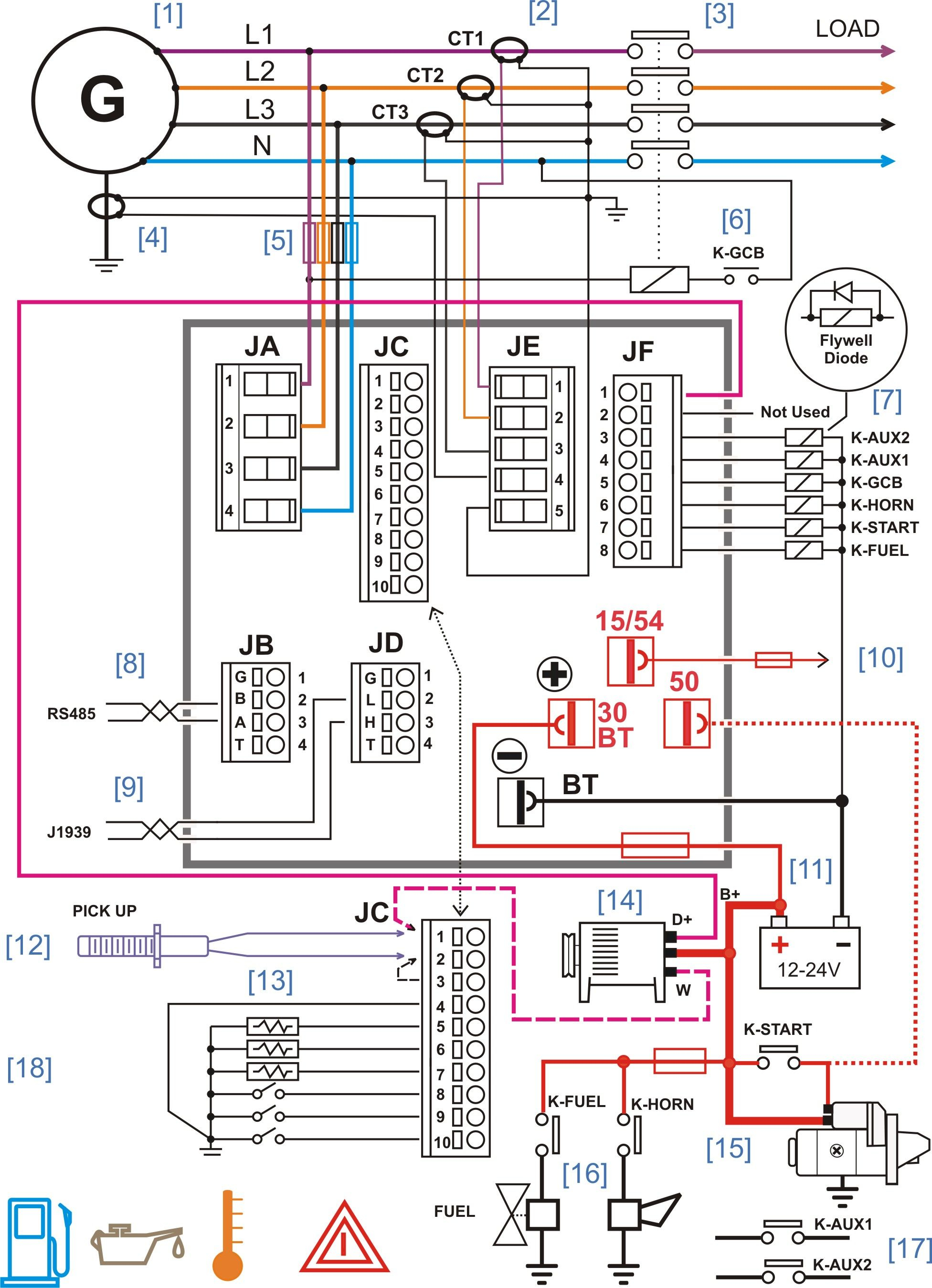 generator transfer switch wiring diagram Collection-Diesel Generator Control Panel Wiring Diagram 15-c