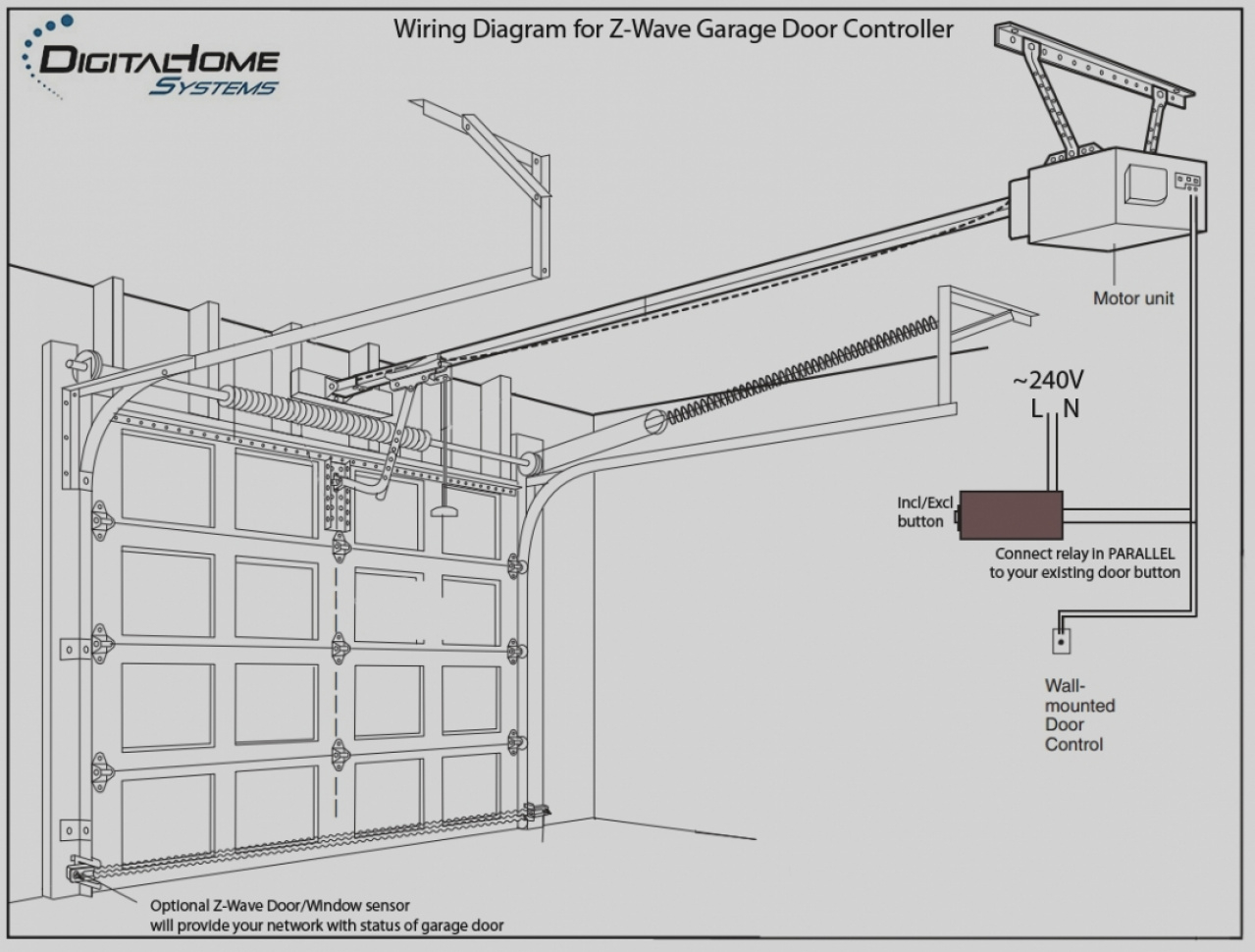 genie garage door opener sensor wiring diagram Download-Beautiful Wiring Diagram For Genie Garage Door Opener Sensor Doors 17-r