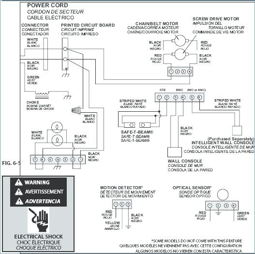 Genie Garage Door Opener Sensor Wiring Diagram Gallery | Wiring ...