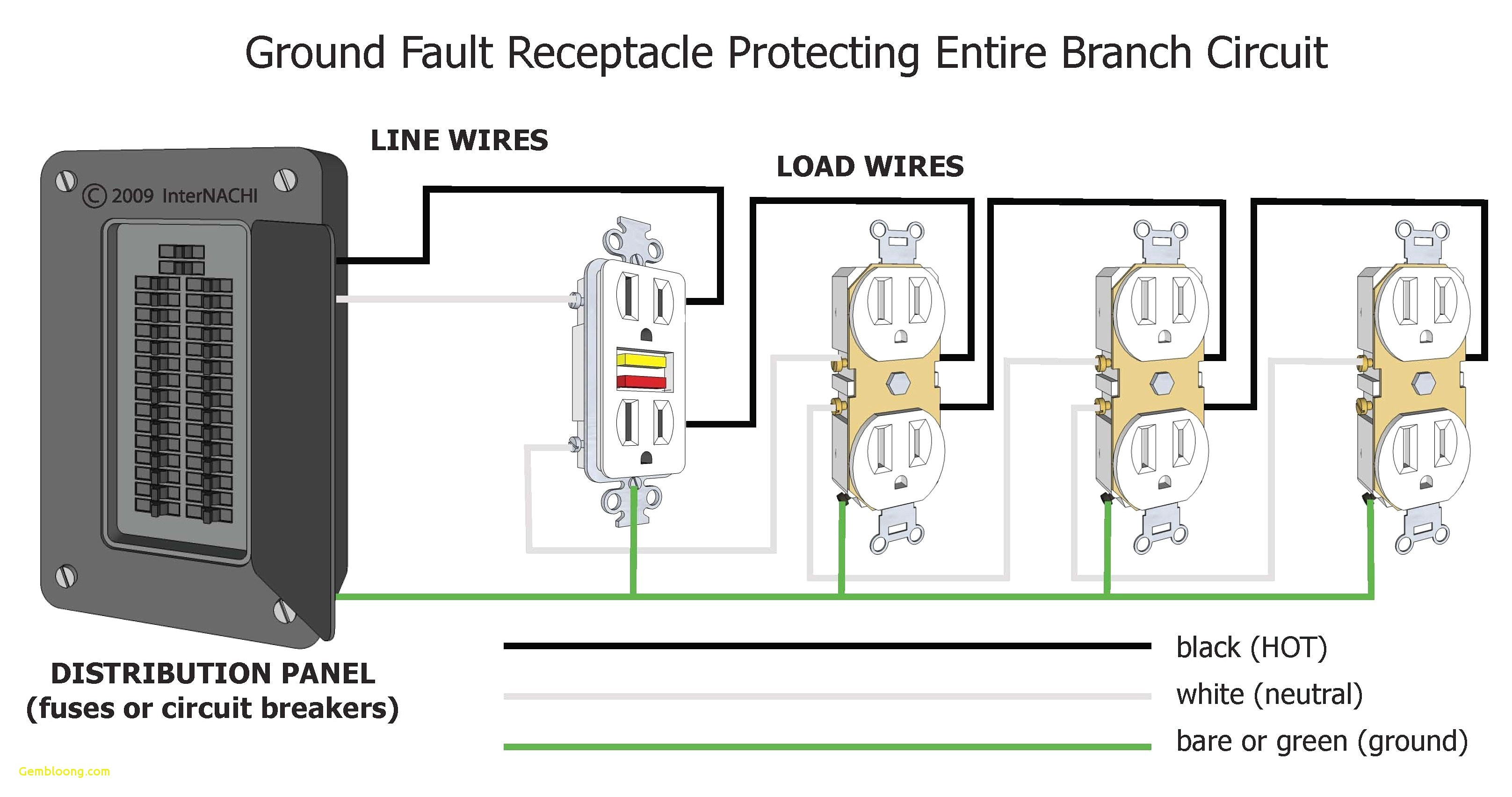 gfci receptacle wiring diagram Download-Wiring Diagram For A Gfci Outlet Refrence Wiring Gfi Outlet Wiring Diagrams Schematics 18-a