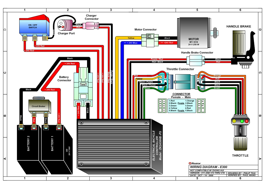 Go Scooter Parts Diagram Diy Wiring Diagrams