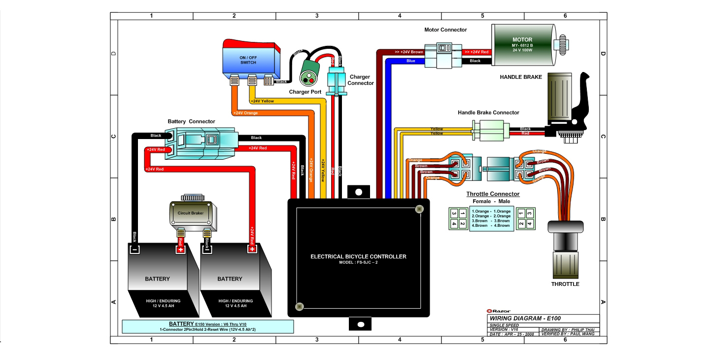go go scooter wiring diagram Download-Razor Launch Wiring Diagram Version 16 10-h