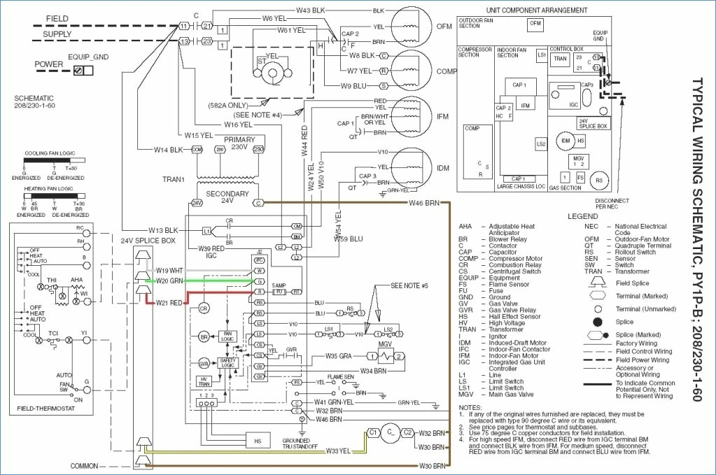 goodman ac unit wiring diagram Collection-Delighted Payne Air Conditioner Wiring Diagram Electrical 5-a