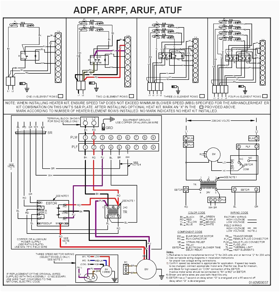Goodman Heat Pump Air Handler Wiring Diagram - Goodman Air Handler Wiring  Diagram Electric Furnace at